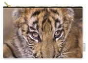Bengal Tiger Cub And Peacock Feather Endangered Species Wildlife Rescue Carry-all Pouch