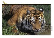 Bengal Tiger Drinking At Pond Endangered Species Wildlife Rescue Carry-all Pouch