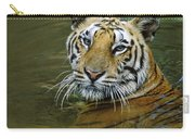 Bengal Tiger In Water Native To India Carry-all Pouch