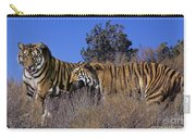 Bengal Tigers On A Grassy Hillside Endangered Species Wildlife Rescue Carry-all Pouch