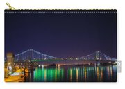 Benjamin Franklin Bridge At Night From Penn's Landing Carry-all Pouch