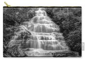 Benton Falls In Black And White Carry-all Pouch