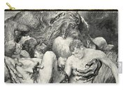 Beowulf Print Carry-all Pouch by John Henry Frederick Bacon