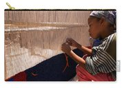 Berber Girl Working On Traditional Berber Rug Ait Benhaddou Southern Morocco Carry-all Pouch