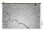 Berlin Street Map - Berlin Germany Road Map Art On Colored Backg Carry-all Pouch