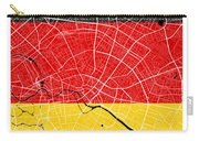 Berlin Street Map - Berlin Germany Road Map Art On German Flag Background Carry-all Pouch