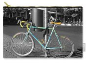Berlin Street View With Bianchi Bike Carry-all Pouch by Ben and Raisa Gertsberg