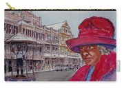 Bermuda Lady In Red And Cop Carry-all Pouch