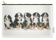 Bernese Mountain Dog Puppies Carry-all Pouch