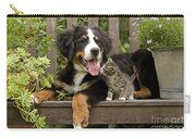 Bernese Mountain Puppy & Kitten Carry-all Pouch