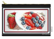 Berries And Yogurt Illustration - Food - Kitchen Carry-all Pouch