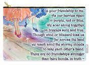 Berry Fairy Friends Poem Carry-all Pouch