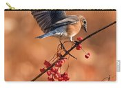Berry Picking Bluebird Carry-all Pouch