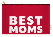 Best Moms Card- Red- Two Moms Mother's Day Card Carry-all Pouch