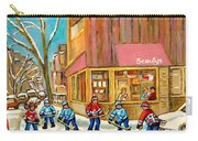 Best Sellers Original Montreal Paintings For Sale Hockey At Beauty's By Carole Spandau Carry-all Pouch