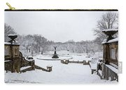 Bethesda Fountain In Central Park Carry-all Pouch by Susan Candelario