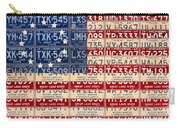 Betsy Ross American Flag Michigan License Plate Recycled Art On Red Board Carry-all Pouch