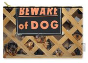 Beware Of Dog Carry-all Pouch by John Dauer