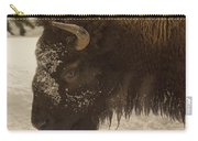 Beware Of The Bison Carry-all Pouch