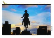 George Washington Statue - Boston Carry-all Pouch by Joann Vitali