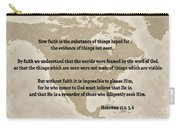 Bible Verses... Hebrews Carry-all Pouch
