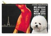 Bichon Frise Art - Una Parigina Movie Poster Carry-all Pouch