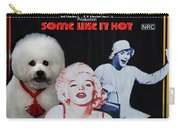 Bichon Frise Art- Some Like It Hot Movie Poster Carry-all Pouch