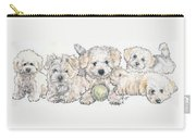 Bichon Frise Puppies Carry-all Pouch