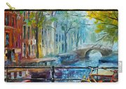 Bicycle In Amsterdam Carry-all Pouch by Leonid Afremov