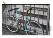 Bicycle Is Chained To A Fence Carry-all Pouch