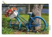 Bicycle With Basket Of Flowers Carry-all Pouch