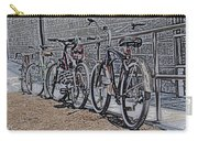 Bicycles On A Rail Carry-all Pouch