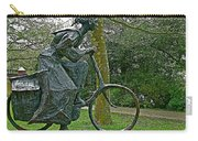 Bicyclist Sculpture In The Park In Leeuwarden-netherlands Carry-all Pouch