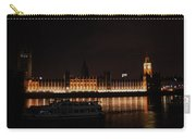 Big Ben And The Houses Of Parliment On The Thames Carry-all Pouch