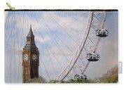 Big Ben And The London Eye Carry-all Pouch