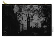 Big Ben Street Black And White Carry-all Pouch