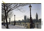 Big Ben Westminster Abbey And Houses Of Parliament In The Snow Carry-all Pouch