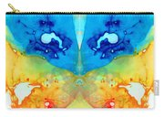 Big Blue Love - Visionary Art By Sharon Cummings Carry-all Pouch
