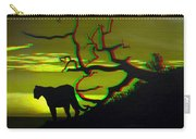 Big Cat Silhouette -  Use Red-cyan 3d Glasses Carry-all Pouch