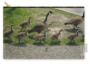 Big Family Crossing The Road Carry-all Pouch