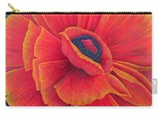 Big Poppy Carry-all Pouch by Ruth Addinall