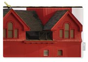 Big Red Holland Harbor Light Michigan Carry-all Pouch by Michelle Calkins