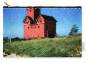 Big Red With Flag Carry-all Pouch by Michelle Calkins