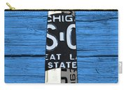 Big Sable Point Lighthouse Michigan Great Lakes License Plate Art Carry-all Pouch