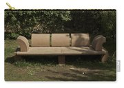 Big Stone Bench Inside The Garden Of 5 Senses Carry-all Pouch