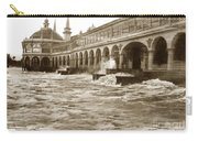 Big Storm Waves At Santa Cruz Beach And Casino And Beach Ca Circa 1925 Carry-all Pouch