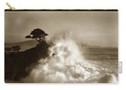 Big Wave Hitting The Lone Cypress Tree Pebble Beach California 1916 Carry-all Pouch