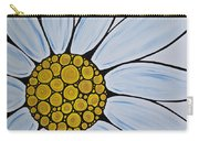 Big White Daisy Carry-all Pouch