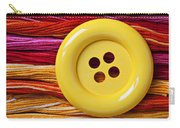 Big Yellow Button  Carry-all Pouch