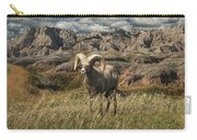 Bighorn Ram In The Badlands Carry-all Pouch